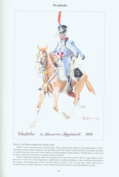 The Confederation of the Rhine - Westphalia: Plate 12. 2nd Hussar Regiment, Private, 1812