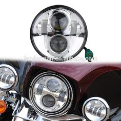 Landerman Round led motorcycle headlight 5.75'' 50W High low Beam led headlight for harley