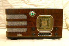 OLD Antique Wood Warwick Vintage Tube Radio Restored Working W Tuning EYE   eBay