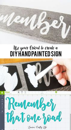 Use your @Cricut to create a DIY hand painted sign from a pallet board #Cricut