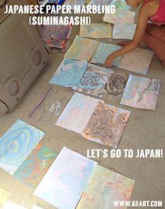 Japanese Marbled Paper (suminagashi). Post includes video tutorial.» K - 6 Art K – 6 Art