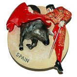 Resin Fridge Magnet: Spain. Corrida (Bullfighting)
