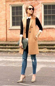 8 свежих образов с пальто без рукавов 1