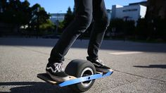 OneWheel Self-Balancing Electric Skateboard Feels Like A HoverBoard! Has a top speed of 12 mph, supposedly so intuitive that anyone can learn to use it within a matter of minutes!