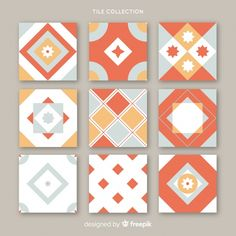 Tribal Patterns, Graphic Patterns, Tile Patterns, Pattern Art, Pattern Design, Wooden Painting, Pottery Painting, Red Tiles, Type Illustration