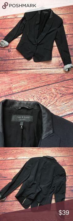"""Rag & Bone Blazer Sz 2 black Rag & Bone Blazer . Sz 2. Chest flat across 17"""" length 18"""" rag & bone Jackets & Coats Blazers"""