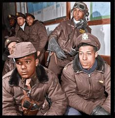 Black History Album .... The Way We Were — BLACK WINGS | 1945 Colorized photograph of the...
