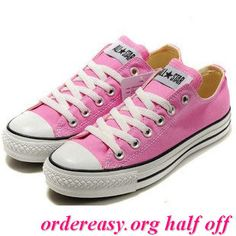 92e6849108f4 Women Lady All Stars Chuck Taylor Ox Low Top Classic Pink Canvas Sneakers