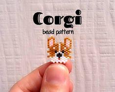 Corgi Dog Brick Stitch Bead Pattern
