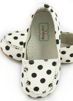 One Good Thread - Fox Paws | Black Polka-Dot Ava - Loafers Genuine Leather, $59.00 (http://www.onegoodthread.com/fox-paws-black-polka-dot-ava-loafers-genuine-leather/)