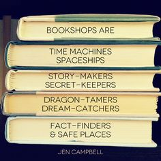 Bookshops are this and more