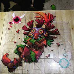 Skull Kid - LoZ: Majora's Mask perler beads by mebs_rx7