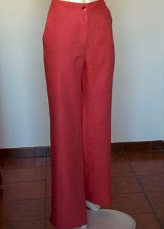 Pantalone : Pantalone rosa con tasche