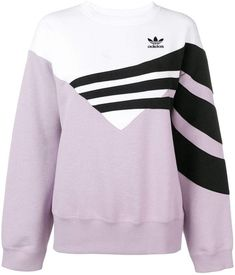 Adidas Originals Color-block Triple Stripe Sweatshirt In Purple Adidas Shirt, Adidas Outfit, Adidas Logo, Adidas Jacket, Adidas Originals, Dance Outfits, Sport Outfits, Sports Luxe, Cycling Shorts