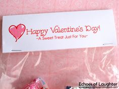 valentine treat bag topper   ... : How To Make Easy Treat Bag Toppers & FREE Valentine Printable