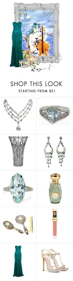"""KAIOH, Michiru / Michelle Kaioh"" by kuryakin ❤ liked on Polyvore featuring Paperchase, DK, Effy Jewelry, Waterford, Annick Goutal, Yves Saint Laurent, Zuhair Murad and Miu Miu"