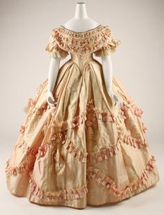 Period Garment: Dress - 1860–61 - French (click through for more images, including detail shots)