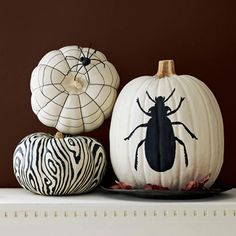 Shocking black and white pumpkins are sure to get rave reviews.