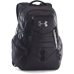 Under Armour UA Storm Quantum Backpack ($64) ❤ liked on Polyvore featuring men's fashion, men's bags, men's backpacks, black and mens laptop backpack