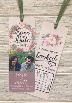 Customized Save The Date Bookmark, Save The Date, Bookmark Invitation, Bookmark Save The Date, Weddi is part of Wedding saving copy are property of WeddingBelle& - Save The Date Invitations, Save The Date Cards, Shower Invitations, Invitation Cards, Wedding Invitations, Invites, Invitation Wording, Save The Date Magnets, Unique Save The Dates