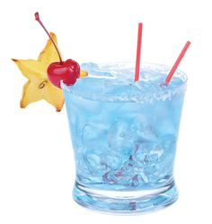 Blue Snowflake: 2 oz. Hpnotiq, 1 splash vodka and 1 oz. pineapple juice. Shake ingredients in a  cocktail shaker with ice. Strain into glass.