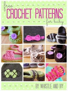 Adorable FREE Crochet Patterns for Baby by Whistle and Ivy
