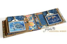 Sun Kissed Vintage Suitcase & Mini Album by Alexandra Morein featuring product by Graphic 45!