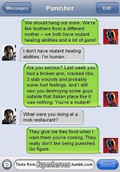 Superhero texts!!!