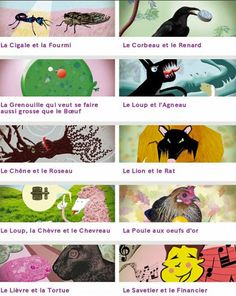 TICs en FLE: Les Fables de La Fontaine : regardez , écoutez ... lisez ! French Poems, Ap French, French Kids, French Class, French Lessons, Education And Literacy, French Education, French Teaching Resources, Teaching French