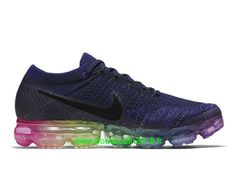 buy popular e64a3 b3eee Chaussures Nike Running Pas Cher Pour Homme Nike Air VaporMax Flyknit Bleu  Rose 883275-400