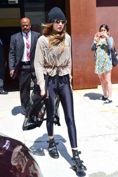 Gigi Hadid leaving Her Apartment In New York
