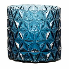 A stylish blue glass plant pot with geometric relief pattern that will bring life to any space. The ideal home for an orchid, or any plant of your choosing. Midnight Blue, Potted Plants, Interior Inspiration, Flower Pots, Ideal Home, Glass, Pattern, Home Decor, Soho