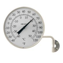 Satin Nickel Outdoor Dial Thermometer