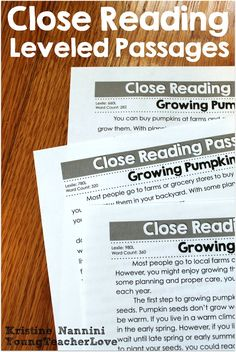 Fall and Thanksgiving Close Reading Passages, Text-Dependent Questions & More! This resource contains EVERYTHING you will need to implement close reading in your classroom! There are THREE DIFFERENT LEVELS OF EACH PASSAGE for you to easily differentiate in your classroom! There are also text-dependent questions and writing prompts for your students to cite evidence from the text, graphic organizers, step-by-step implementation guides, and more!$