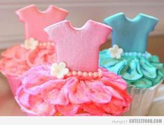 Ballerina Cupcakes~                                   By Cutest Food, Pink, Blue, Tutu