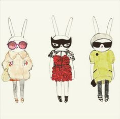 It-bunnies are the new it-girls #fashion #bunny #OOTD #itgirl #couture (photo credit Fifi Lapin)