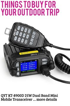 (This is an affiliate pin) QYT KT-8900D 25W Dual Band Mini Mobile Transceiver Two-Way Radios UHF VHF Quad standby Amateur Car Radio with Extra Speaker Camping Gadgets, Things To Buy, Stuff To Buy, Radios, Quad, Mini, Quad Bike