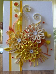 Greeting quilling card Quilling card wedding card birthday