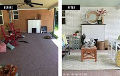 Back Porch Makeover | The Blissful Bee