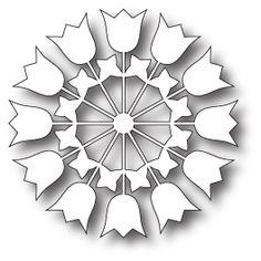 Memory Box - Die - Papercut Tulips Circle,$13.99