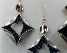 Bijoux nespresso: boucles d'oreilles récup par Bijouxfaitalamain13