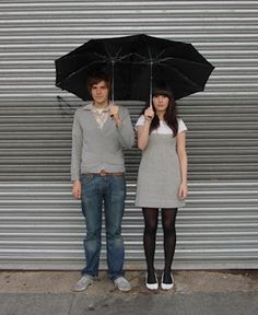 An umbrella built for two.