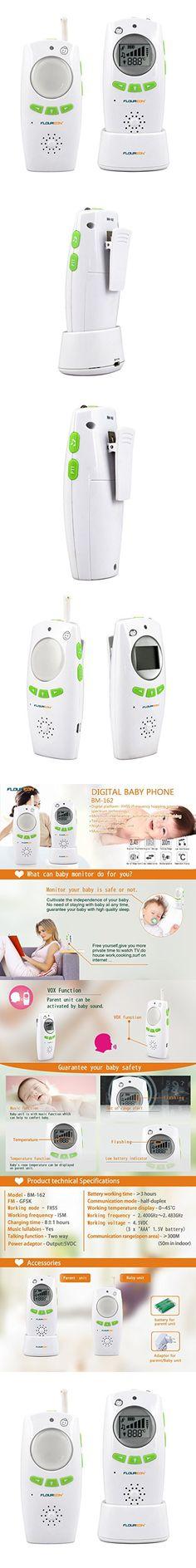 Floureon BM162 Safe & Sound Digital Audio Baby Monitor With One Parent Unit , Green