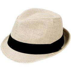 Simplicity Men Women Summer Short Brim Straw Fedora ($9.99) ❤ liked on Polyvore featuring men's fashion, men's accessories, men's hats, mens fedora hats, mens hats fedora, mens hats, mens summer straw fedora hats and mens fedora