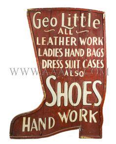 Antique Look Shoe Sign