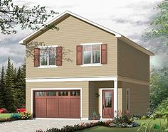 Perfect Carriage House or 2nd Home - 21856DR | Carriage, Vacation, Canadian, Metric, 2nd Floor Master Suite, CAD Available, Drive Under Garage, PDF | Architectural Designs