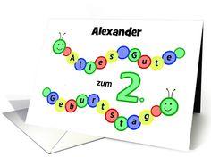 18 best birthday cards german images on pinterest in 2018 2nd birthday caterpillars custom name german language card m4hsunfo