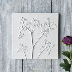 Unique handmade Sculptural cast wall plaques, made in plaster using real flowers, plants and interesting objects Simple Flowers, Real Flowers, Dried Flowers, Paris Crafts, Plaster Of Paris, Cow Parsley, Plaster Cast, Clay Tiles, Clay Art