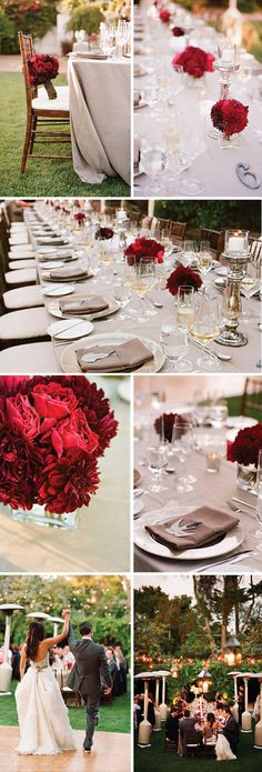 Romantic Grey & Red Wedding