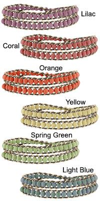 Colombian Chirilla Double Wrap Bracelet at The Hunger Site